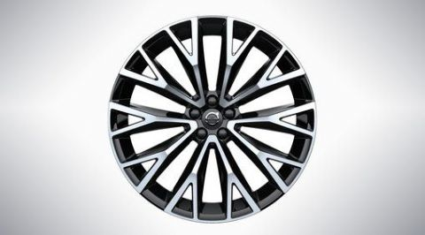 "XC60 22"" 10-Open Spoke Black Diamond Cut Alloy Wheel"